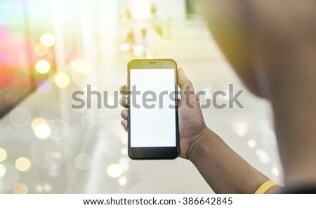 Business man Working With Modern Devices, Digital Computer And Mobile Phone(Vintage) - stock photo