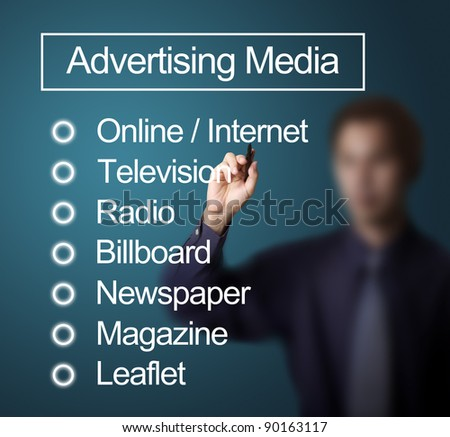 advertising in the media Advertising includes all forms of paid nonpersonal communication and promotion of products, services, or ideas by a specified sponsor advertising appears in such media as print (newspapers, magazines, billboards, flyers), broadcast (radio, television), and the internet, including e-mail and the world wide web.