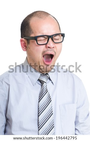 Business man yawn
