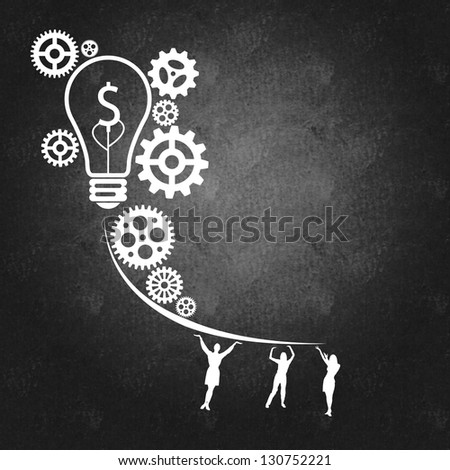 Business management and success concept as a result of teamwork - stock photo