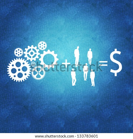 Business management and teamwork leading to success - stock photo