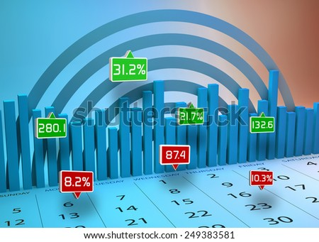 Business market charts as a concept - stock photo