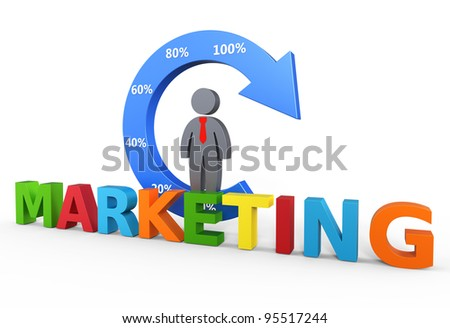 Business marketing concept - stock photo