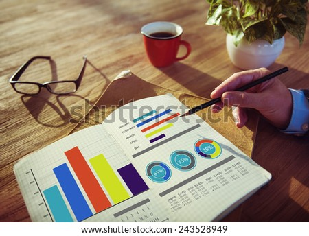 Business Marketing Strategy Design Ideas Working Concept - stock photo