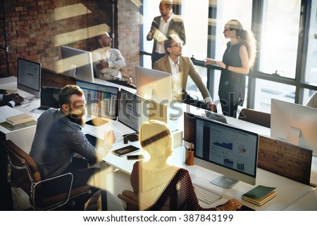 Business Marketing Team Discussion Corporate Concept - stock photo