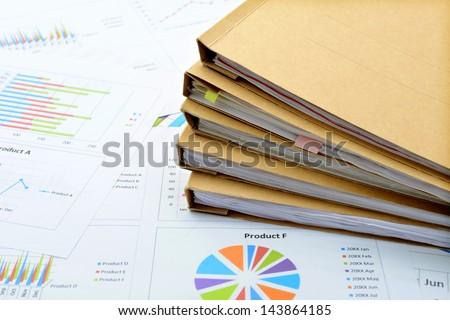 Business material - stock photo