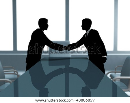 BUSINESS MEETING. - stock photo