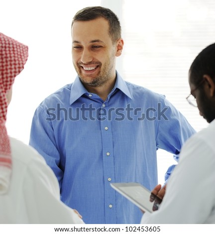 Business meeting at Middle east - stock photo