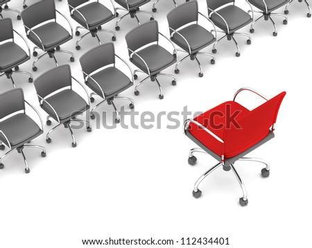 Business meeting - concept illustration - stock photo