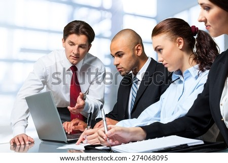 Business, Meeting, Office. - stock photo