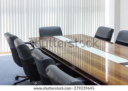 Business meeting room in office - stock photo