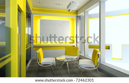 Business meeting room in office with modern decoration - stock photo