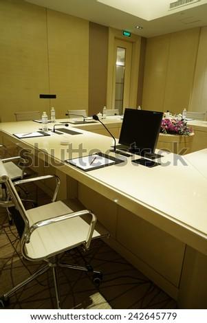 Business meeting room interior - stock photo