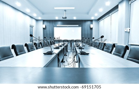Business meeting room interior - stock photo
