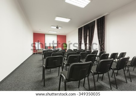Business meeting, seminar room, conference room, interior - stock photo