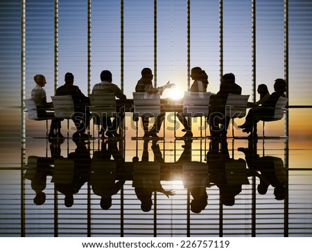 Business Meeting Sun Professional Strategy Concept - stock photo