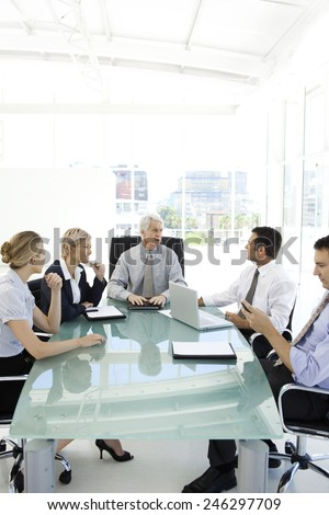 Business meeting with the boss - stock photo