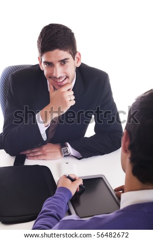 Business men at work - stock photo
