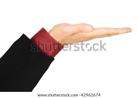 Business men holding hand, isolated on white background - stock photo