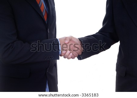 business men shaking hands isolated over a white background