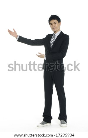 Business men show his presentation - stock photo