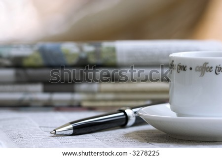 business morning still life - stock photo