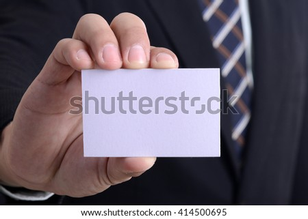Business name card blank template and hand for you design