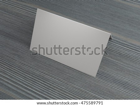 Business Name Card On The Table