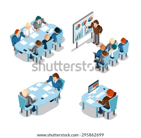 Business negotiations and brainstorming, analysis and creative office work. Idea and people, place and busy, administration businessmen working - stock photo