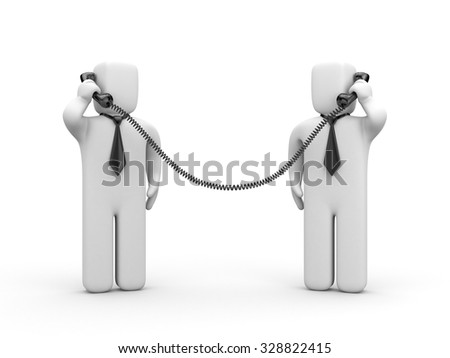 Business negotiations or search for business partner - stock photo