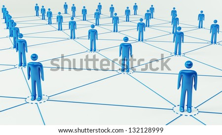 Business Network - stock photo