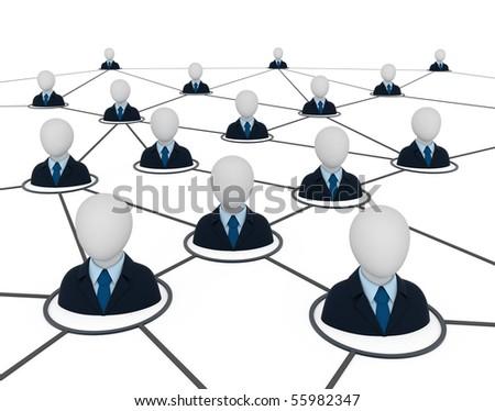 Business network. Concept 3d illustration. - stock photo