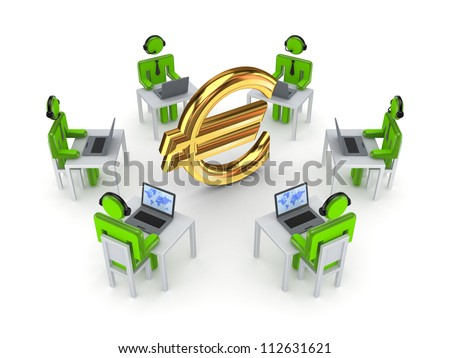 Business network concept.Isolated on white background.3d rendered.