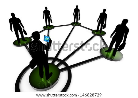 Business network. Corporate structure. - stock photo