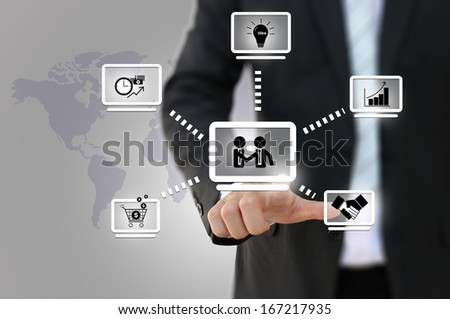 Business network diagram - stock photo