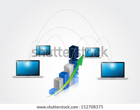 business network illustration design over a white background