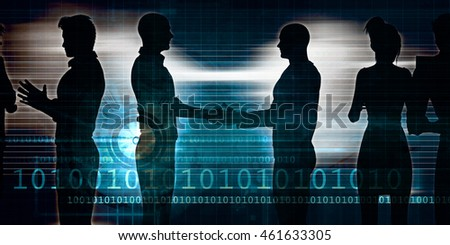 Business Networking Session as an Illustration Concept 3D Illustration Render