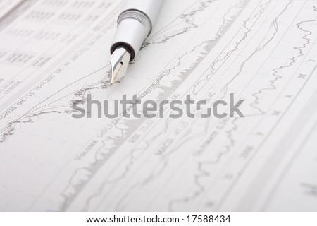 business newspaper - stock photo