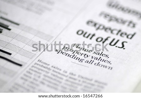 Business - newspapers business section and market analysis