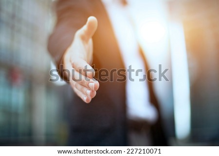 Business offer, partnership - stock photo