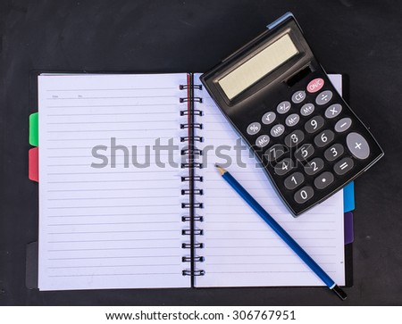 Business / office concept shot, closeup.Stationery