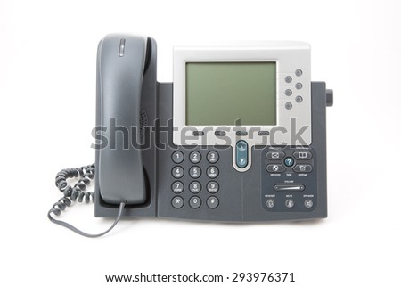 Business Office IP Telephone Isolated