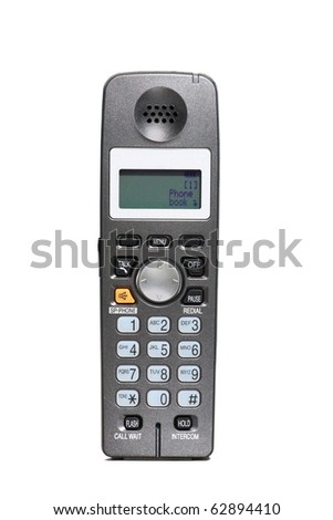 business office telephone isolated on a white - stock photo