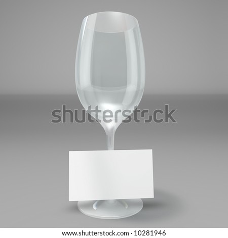 Business on a wine glass - stock photo