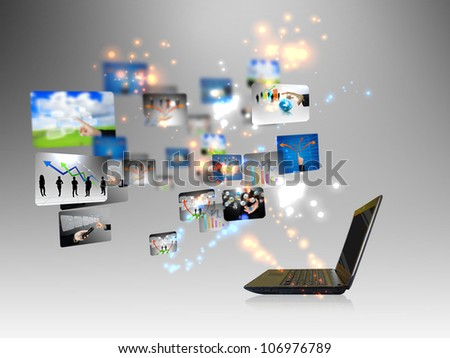 business on-line Concept - stock photo