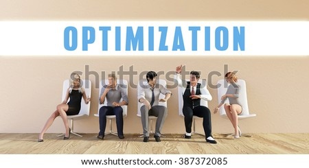Business Optimization Being Discussed in a Group Meeting - stock photo