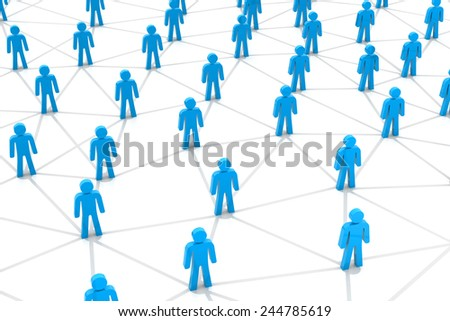 Business or social networking concept - stock photo