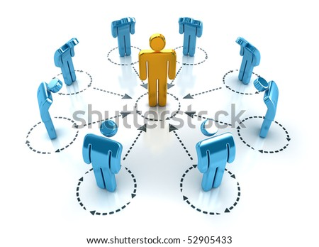 Business organization layout. Teamwork and leadership concept. - stock photo