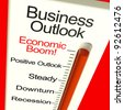 Business Outlook Economic Boom Meter Shows Growth And Recovery - stock photo