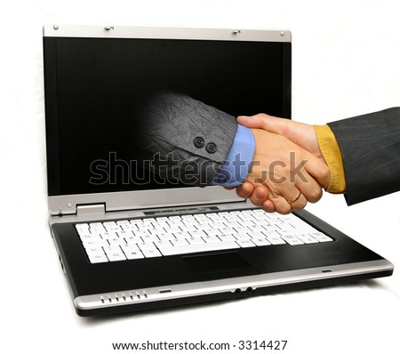 business over the web - stock photo